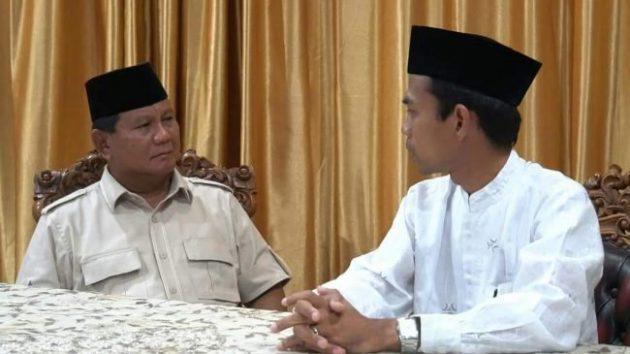 Ustadz Abdul Somad dan Prabowo Subiyanto