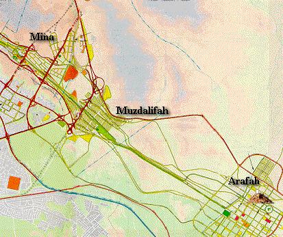 Lokasi di Arafah